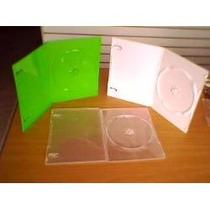 50 Estuches Dvd Verde Xbox, Blanco O Transparente Cajas Cd