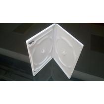 Estuches Para Dvd 14 Mm Dobles Blancos Caja Con 100 Estuches