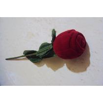 Estuche Para Anillo,aretes,medalla En Forma De Rosa