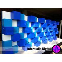 Difusor De Cubos, Panel Acustico, Espuma Acustica, Sonido