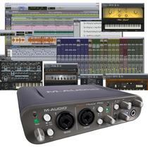 M-audio Fast Track Pro Interfaz Profesional 24 Bits Protools