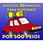 Grabación Profesional Para Perifoneo De 30 Minutos
