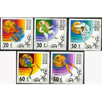 0823 Olimpiadas 78 Mongolia 5 Sellos C T O N H 1980