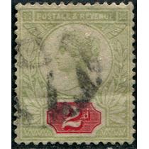 0949 Inglaterra Reina Victoria 2p Usado 1887-92