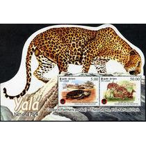 1042 Leopardo Sri Lanka Yala Hoja Recuerdo 2 P Mint N H 2013
