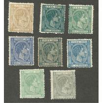 España Estampillas De 1876 A 78 Cuba