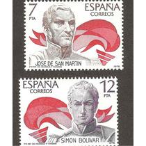 España Gral San Martin Y Simón Bolivar 1978