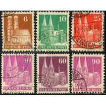 1168 Castillos Alemania Serie 6 Piezas Usados 1948
