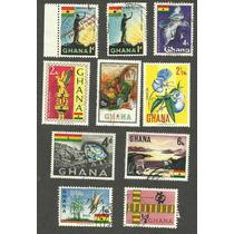 Estampillas De Gana Africa.
