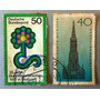 Lote De 2, Sello Postal Alemania, 1977 Estampilla
