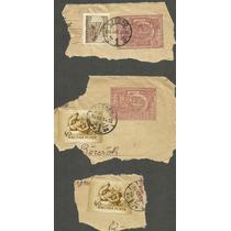 Hungria Estampillas Sobre Fragmento Carta Era Sovietica