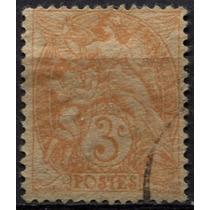 2849 Francia Perfín Angel Querubin 3c Usado 1900-29