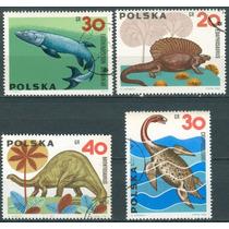 Sc () Año 1965 Polonia Dinosaurios Serie Tematica