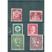 Alemania Nazi : Lote A4 3er. Reichs , Hitler , Swastika Mn4