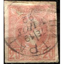 2340 Grecia Scott #68 Mercurio 20c Usado L H 1886-88