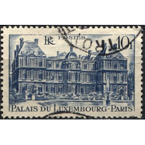 2939 Francia Castillo Luxemburgo Scott#569 10f Usado 1946