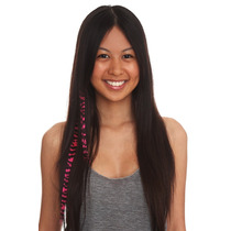 Hot Topic Extensiones De Cabello Neon Pink Zebra Clip-in Syn