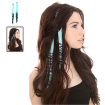 Hot Topic Extensiones De Cabello Turquoise Zebra Tipped Hair