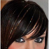 #20 Hilos 50cm Brillo Color Pelo Extensiones Cabello