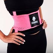 Faja Cinturilla Tecnomed Belt Fitness Rosa Colombiana