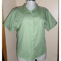 Blusa Casual Color Verde Talla 3x Nueva