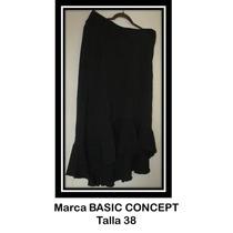 Falda Color Negro Para Dama