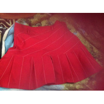 Minifalda Sexi Roja Con Tablas