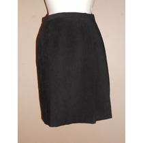 Hill Country! Preciosa Falda Negra, Tela Piel De Durazno T-6