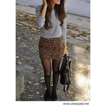 Faldas Tubo Animal Print Flores Pull And Bear Bershka Shasa