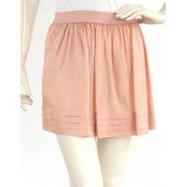 Minifalda Rosa, Delgada De Seda, Resorte Bcbg Max Azria