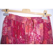Bonita Falda Indu Bazar India T- Unitalla Roja Con Dibujos