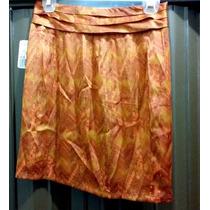 Remate De Minifalda Naranja Estampada Talla S