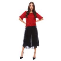Falda Pantalon Culotte De Gasa Plizada Super Original