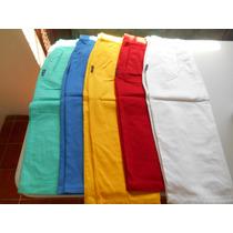 Falda Larga Para Dama En Gabardina 100% Algodon 5 Colores