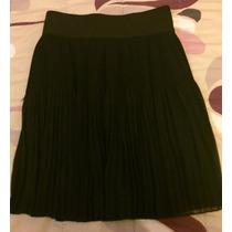 Falda Corta Zara Negra Talla 28