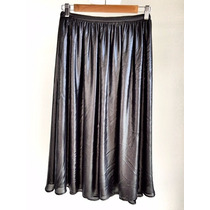 Falda Para Dama Marca Zara Color Plata