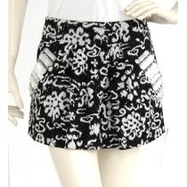 Minifalda Negra Flores Blancas, Cierre A Un Lago, Bolsas Apl