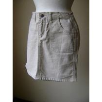 Minifalda Color Hueso Tipo Jeans Talla 1 (chica) Fach384