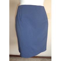 Talla-13-14 Falda Azul De Corte Clásico!! Fch198