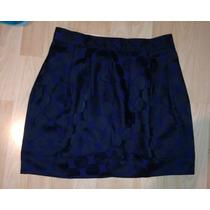 Falda Americana Marca Forever 21 Azul Chica Corta