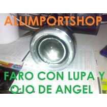 Faro Con Lupa Y Ojo De Angel Blanco Auxiliar O Antiniebla.