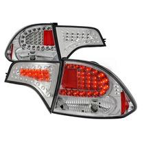 Calaveras Led Cromadas Para Honda Civic 2006 - 2008