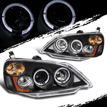 Faros De Lupa Negros Honda Civic Sedan / Coupe 2001 - 2003