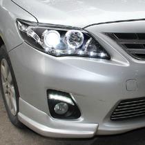 Faros Corola 09-10 C/lupa Y Leds Precio X Par