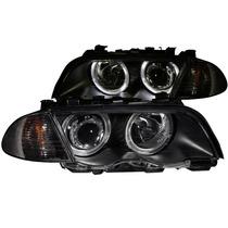 Bmw 3 Series E46 98-01 4dr Projector H.l. W/c. L Halo Black