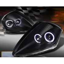 Eclipse 2000 2005 Faros Ojos Angel Anillo Led Negro