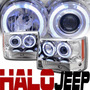 Jeep Grand Cherokee 1993 - 1998 Juego Faros Con Ojo De Angel