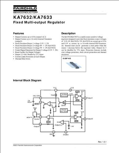 Fdp Set De Dos Circuitos Integrados Ka7632 Originales Nuevos
