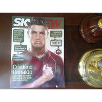 Revista Sky View Cristiano Ronaldo Bruno Mars Scorpions