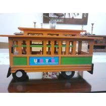 Tren Antiguo Tranvía De Madera Escala